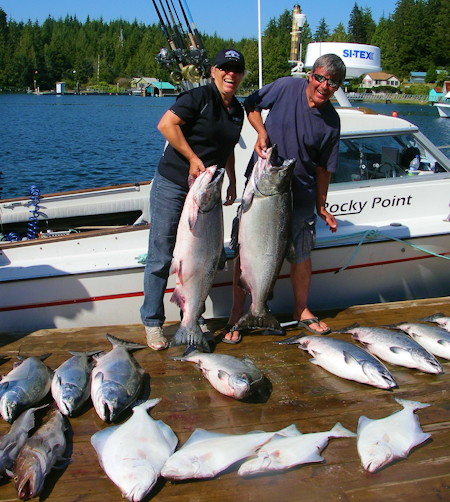 bc salmon fishing halibut fishing rocky point charters